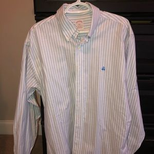 Brooks brothers men's large stripe button-down